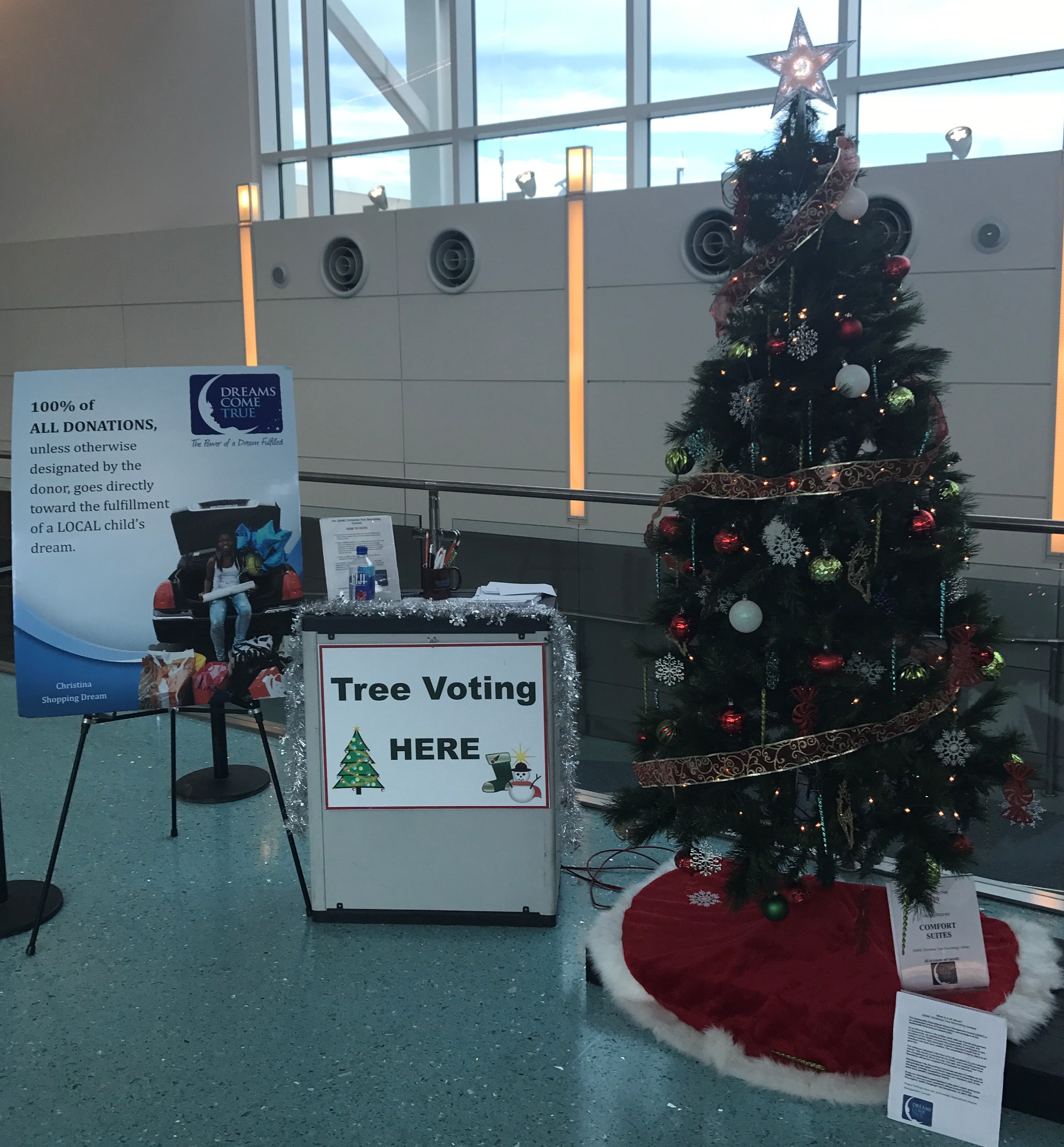 A christmas decoration that has been donated to you is a - Tree Voting Here