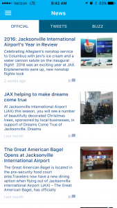 Travelers can also learn about the latest airport news.