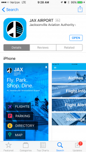 The JAX Airport app is now available to download for both iOS and Android devices.