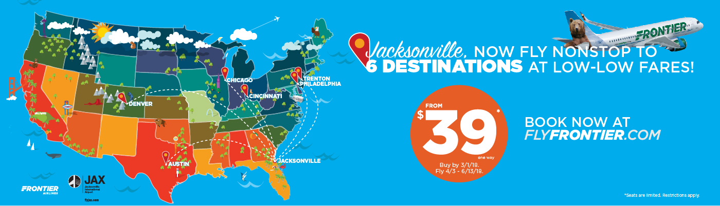 Frontier Airlines Is Growing in Jacksonville – New Flights