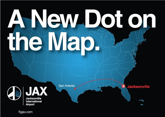 A New Dot on the Map. Frontier now offers nonstop flights to San Antonio, starting in August.