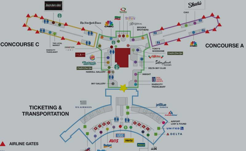 Jacksonville Airport Map Jacksonville International Airport Jacksonville Airport Map